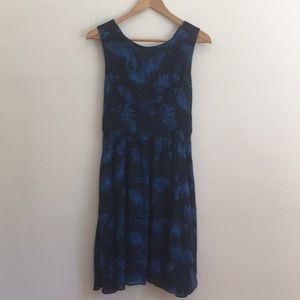 Anthropologie Maple sundress blue floral lined 4